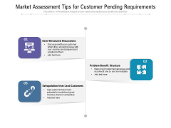 Market Assessment Tips For Customer Pending Requirements Ppt PowerPoint Presentation File Graphics Download PDF