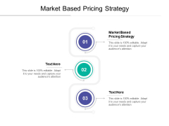 Market Based Pricing Strategy Ppt PowerPoint Presentation Infographics Topics Cpb