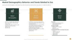 Market Demographics Behavior And Trends Related To Zoo Ppt Professional Display PDF