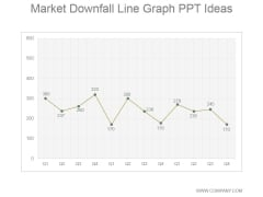Market Downfall Line Graph Ppt PowerPoint Presentation Infographics