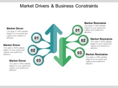 Market Drivers And Business Constraints Ppt PowerPoint Presentation Summary Examples