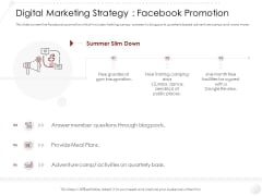 Market Entry Gym Health Fitness Clubs Industry Digital Marketing Strategy Facebook Promotion Topics PDF