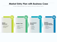 Market Entry Plan With Business Case Ppt PowerPoint Presentation Infographic Template File Formats PDF