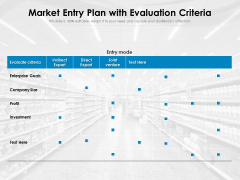 Market Entry Plan With Evaluation Criteria Ppt PowerPoint Presentation Gallery Design Inspiration PDF