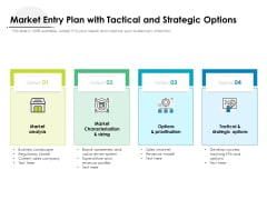 Market Entry Plan With Tactical And Strategic Options Ppt PowerPoint Presentation Gallery Deck PDF