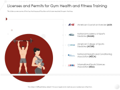 Market Entry Strategy Clubs Industry Licenses And Permits For Gym Health And Fitness Training Inspiration PDF
