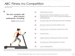 Market Entry Strategy Gym Health Clubs Industry ABC Fitness Inc Competition Information PDF