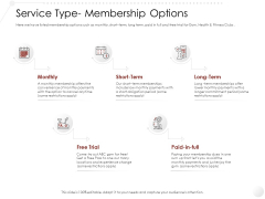 Market Entry Strategy Gym Health Fitness Clubs Industry Service Type Membership Options Designs PDF