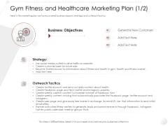 Market Entry Strategy Health Clubs Industry Gym Fitness And Healthcare Marketing Plan Business Strategy Infographics PDF