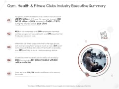 Market Entry Strategy In Gym Health Fitness Clubs Industry Executive Summary Ideas PDF