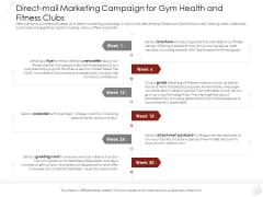 Market Entry Strategy Industry Direct Mail Marketing Campaign For Gym Health Fitness Clubs Formats PDF