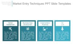 Market Entry Techniques Ppt Slide Templates