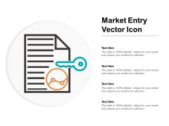 Market Entry Vector Icon Ppt PowerPoint Presentation Infographics Layout Ideas