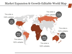 Market Expansion And Growth Editable World Map Ppt PowerPoint Presentation Portfolio Format Ideas