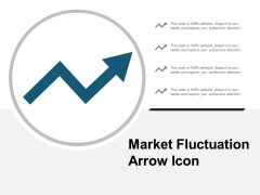Market Fluctuation Arrow Icon Ppt PowerPoint Presentation Model Graphics Template