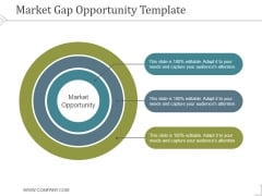 Market Gap Opportunity Template 1 Ppt PowerPoint Presentation Slides