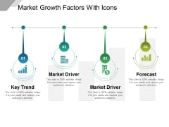 Market Growth Factors With Icons Ppt PowerPoint Presentation Slides Icon