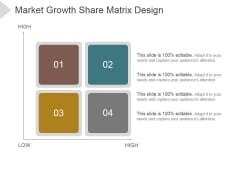 Market Growth Share Matrix Design Ppt PowerPoint Presentation Visuals
