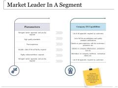 Market Leader In A Segment Ppt PowerPoint Presentation Gallery Good
