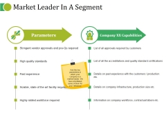 Market Leader In A Segment Ppt PowerPoint Presentation Infographic Template File Formats