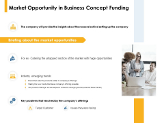 Market Opportunity In Business Concept Funding Ppt PowerPoint Presentation Show Clipart