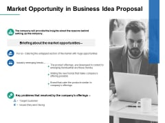 Market Opportunity In Business Idea Proposal Target Ppt PowerPoint Presentation Infographic Template Inspiration