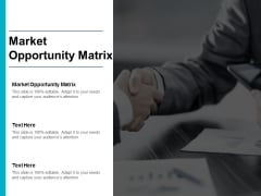 Market Opportunity Matrix Ppt PowerPoint Presentation Styles Design Inspiration Cpb