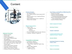 Market Overview Fitness Industry Content Ppt Slides Skills PDF