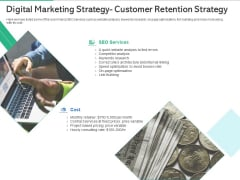 Market Overview Fitness Industry Digital Marketing Strategy Customer Retention Strategy Graphics PDF