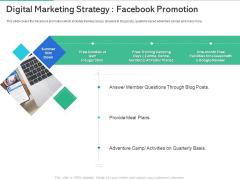 Market Overview Fitness Industry Digital Marketing Strategy Facebook Promotion Inspiration PDF