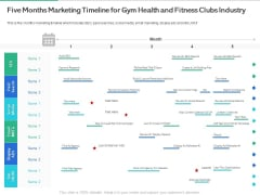 Market Overview Fitness Industry Five Months Marketing Timeline For Gym Health And Fitness Clubs Sample PDF