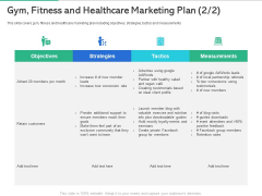 Market Overview Fitness Industry Gym Fitness And Healthcare Marketing Plan Tactics Summary PDF