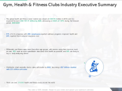 Market Overview Fitness Industry Gym Health And Fitness Clubs Industry Executive Summary Diagrams PDF