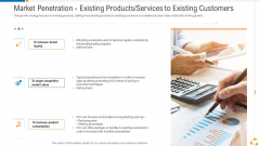 Market Penetration Existing Products Services To Existing Customers Topics PDF