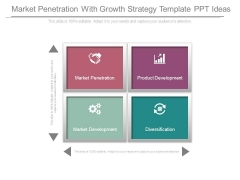 Market Penetration With Growth Strategy Template Ppt Ideas