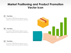 Market Positioning And Product Promotion Vector Icon Ppt PowerPoint Presentation Layouts Styles PDF
