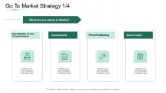 Market Potential Analysis Go To Market Strategy Key Strategies Ppt Pictures Structure PDF
