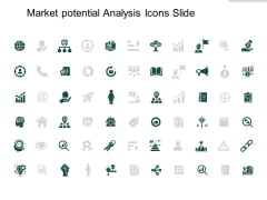 Market Potential Analysis Icons Slide Gears Ppt PowerPoint Presentation Show Influencers