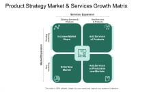 Market Potential Analysis Product Strategy Market And Services Growth Matrix Ppt Layouts Examples PDF