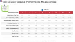 Market Research Analysis Of Housing Sector Real Estate Financial Performance Measurement Diagrams PDF
