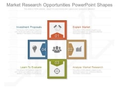 Market Research Opportunities Powerpoint Shapes