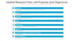 Market Research Plan With Purpose And Objectives Ppt PowerPoint Presentation Inspiration Elements PDF