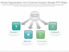 Market Segmentation And Customer Analysis Sample Ppt Slides