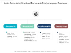 Market Segmentation Behavioural Demographic Psychographic And Geographic Ppt Powerpoint Presentation Portfolio Slides