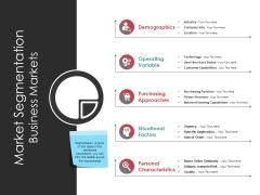 Market Segmentation Business Markets Ppt PowerPoint Presentation Model Graphics Tutorials