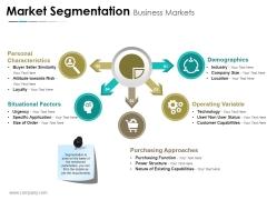 Market Segmentation Business Markets Ppt PowerPoint Presentation Portfolio Slide Download