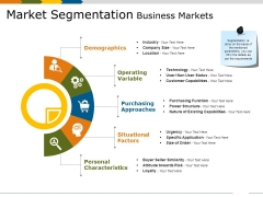 Market Segmentation Business Markets Ppt PowerPoint Presentation Slides Model