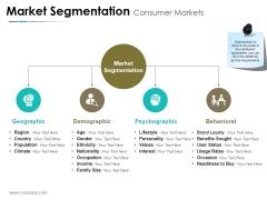 Market Segmentation Consumer Markets Ppt PowerPoint Presentation Inspiration Display