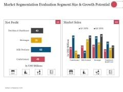 Market Segmentation Evaluation Segment Size And Growth Potential Ppt PowerPoint Presentation Guidelines