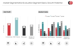 Market Segmentation Evaluation Segment Size And Growth Potential Ppt PowerPoint Presentation Layouts Model